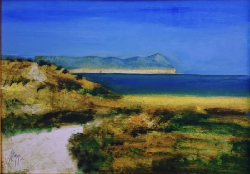 painting of a coast in Sardinia