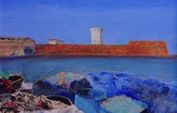 panting of the port of Livorno